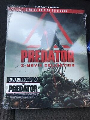 PREDATOR 3 Movie Collection BLU-RAY/Digital  LIMITED EDITION STEELBOOK New