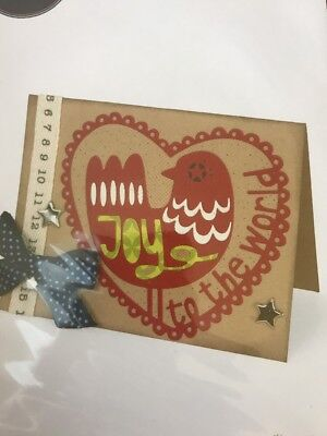Sizzix Thinlits Cutting Die Stencil Emboss JOY TO THE WORLD 660730