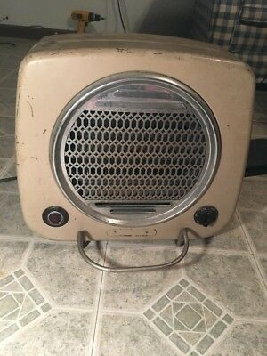 Vintage Dominion Electric Heater Model 1530 CHROME FRONT