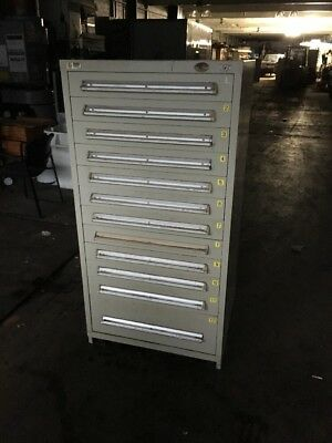 Stanley Vidmar Tool Cabinet 12 Drawer Good Condition