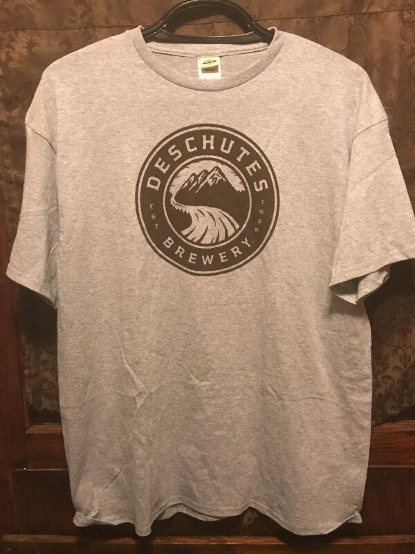 DESCHUTES BREWERY Bend Oregon ~ XL ~ NEW ~ OFFICIAL Logo Beer T Shirt