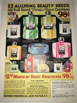 Vintage Vivian Vance Beauty Needs Art Deco Ad 1933 Cosmetics