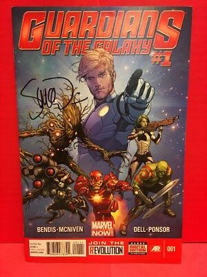 Signed Guardians Of The Galaxy  1 Marvel Comics 2013 Iron Man App Groot Drax
