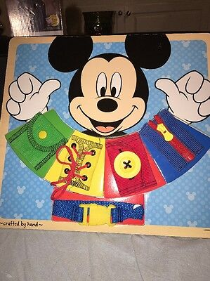 Melissa  Doug Disney Mickey Mouse Clubhouse Wooden Basic Skills Board ORIGINAL](Melissa And Doug Basic Skills Board)