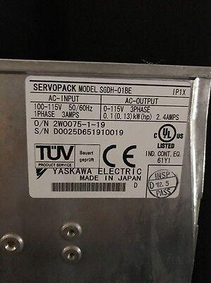 Yaskawa Servo Drive Servopack Sgdh-01be 100v Used
