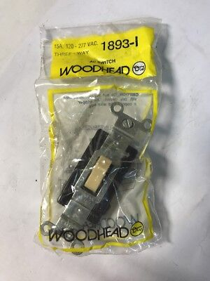 NEW WOODHEAD 1893-I Three Way AC Switch 15A 120 - 277 VAC FAST SHIPPING