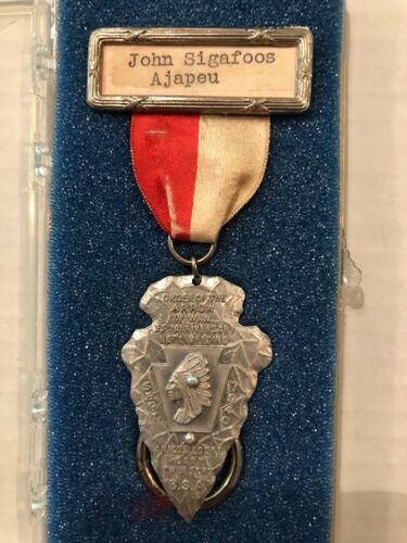 1940 NOAC Rare Aluminum Medal With Ribbon And Nameplate BSA