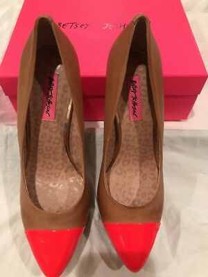 New Betsey Johnson Carmindy Platform High Heels Leather Pink 9.5 ()