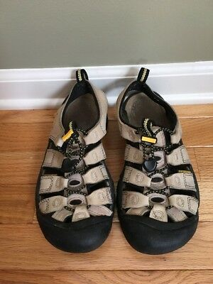 KEEN BEIGE LEATHER STRAPPY SPORT SANDALS GREAT SOLES BEST SANDALS MADE SZ