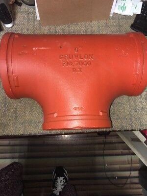 Gruvlok 6 Nominal Size Ductile Iron Tee. 0390016921. 2xew8