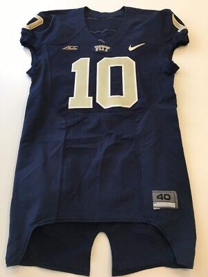 ddf457ccd02a Game Worn Used Pittsburgh Panthers Pitt Football Jersey Nike Size 40  10  Jones