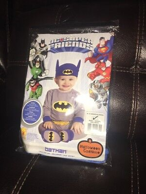 DC SUPER FRIENDS COMICS BATMAN  INFANT TODDLER SIZE 6-12 MONTH HALLOWEEN COSTUME - Toddler Batman Halloween Costumes