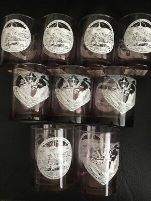 Submarine Birthday Ball 1994 Double Old Fashioned Glasses Set Of (9) With Tags Double Old Fashioned Set Tag