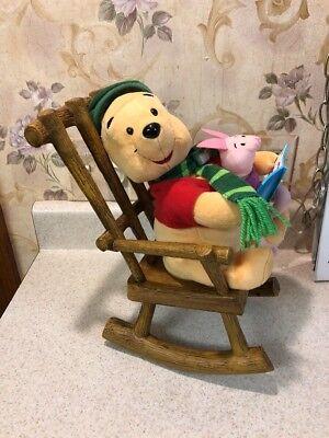 Winnie The Pooh & Piglet Animated Plush Rocking Chair Gemmy Christmas