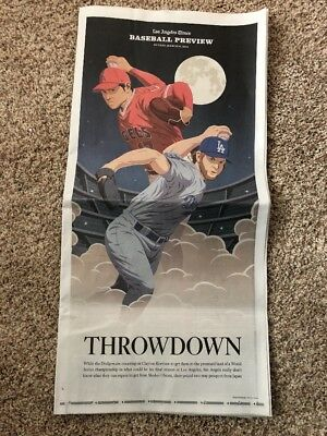 Shohei Ohtani La Times Dodgers Angels  Baseball Preview Special Section 28 Pgs