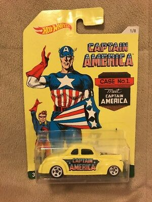 HOT WHEELS 2015 CAPTAIN AMERICA '40 FORD COUPE CASE NO. 1
