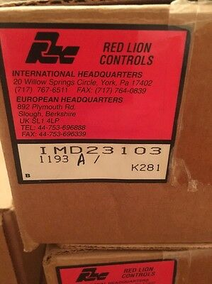 Red Lion Controls Imd23103 1193a New