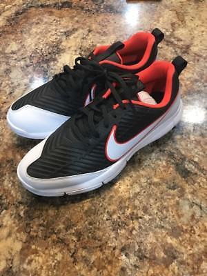 (NEW Nike Explorer 2 Mens Golf Shoes Max Orange White Black 849957-003 Sz 9.5)