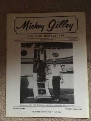 Mickey Gilley Fan Club Newsletter Vol 7 Number 4 December 1981