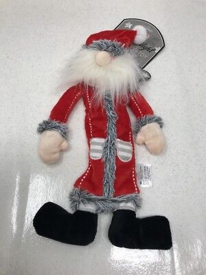 House Of Paws Squeaker Free Dog Toy Christmas Santa Claus