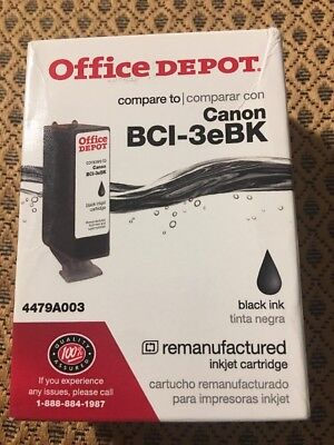 Officedepot: Compatible Canon BCI-3eBK Black Ink Cartridge