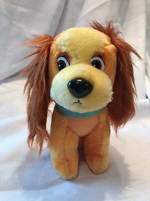 "Lady and the Tramp Vintage Walt Disney Productions Plush Doll 7"" EUC"