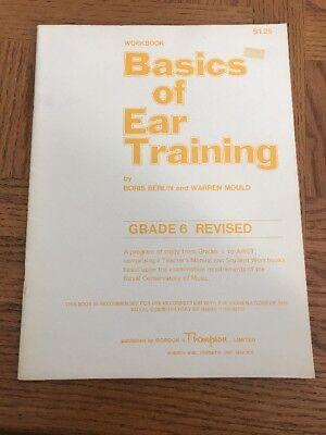 Basics Of Ear Training Piano Book Grade 6