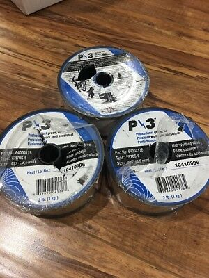Mig Welding Wire P3 64004176 Er70s-6 Size 0230.6 Mm 2 Lb Each 3 Packs