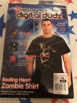 Digital Dudz Frantic Beating Heart Zombing Shirt Costume XL Morph Costume Co ()