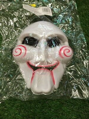 Saw Billy the Jigsaw Doll Face Mask Adult Scary Horror Halloween John Kramer](Halloween Saw Face)