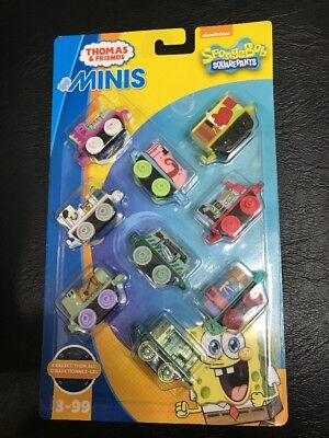 Fisher-Price Thomas & Friends MINIS/SpongeBob Squarepants Trains, 9-Pack