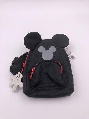 Tokyo Disneyland Japan Small Mickey Backpack Passport Clip Bag: Black (DSJ)