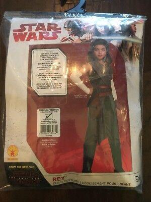 STAR WARS The Last Jedi Rey Child Halloween SZ M 8/10 NEW - Girl Jedi Halloween Costumes