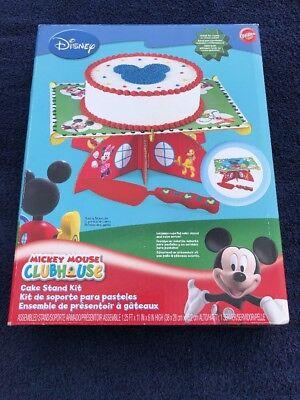 Wilton Disney MICKEY MOUSE CLUBHOUSE Cake Stand Kit NIB w/ Server Sheet or Round - Mickey Mouse Cake Kit