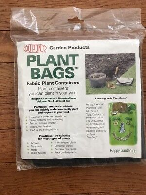 Dupont Plant Bags Fabric Plant Containers 5 Pack