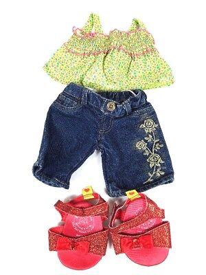 Build A Bear Casual Dress Up - Jeans, Shirt, Sandals - BAB
