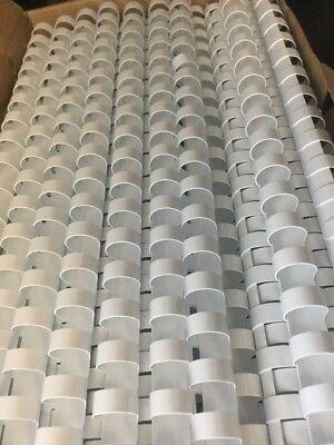 Gbc 4000062 Cerlox Bindings White 12 Spines 100 Pk New 85 Sheet Capcity Combs