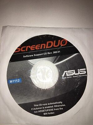 Screenduo Software Support Cd Rev 308 01 Disc M1112 Asus New Very Rare Vintage