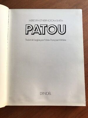PATOU by Meredith Etherington-Smith 1984 HB Book, SIGNED by President  in FRENCH