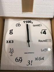 Math Clock Timelike Unique Wall Clock Modern Design Novelty Maths Equatio... NEW