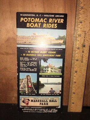 1970 Potomac River Boat Trips Brochure Map Travel Ephemera