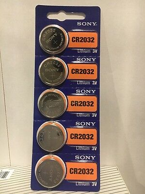 SONY CR2032 5 NEW  3V Lithium Coin Battery Expire 2027 FRESHLY NEW - USA Seller
