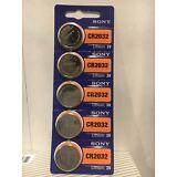 SONY CR2032 5 NEW  3V Lithium Coin Battery Expire 2027 FRESHLY NEW - USA Seller