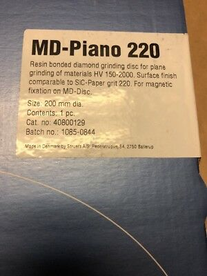 New Md-piano 220 Struers 40800129 8 Resin Bonded Diamond Grinding Disc