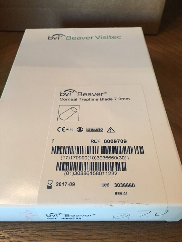 bvi Beaver-Visitec Corneal Trephine Blade 7.0mm Ref# 0009709 Outdated