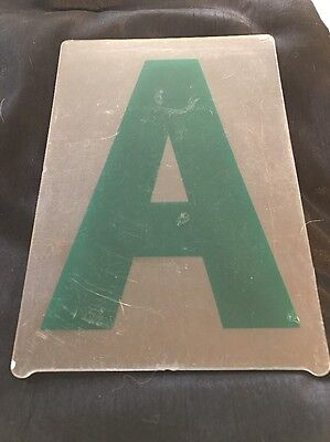 Used Set Of 283 Green Gemini 8 Plastic Marquee Reader Board Letters Numbers