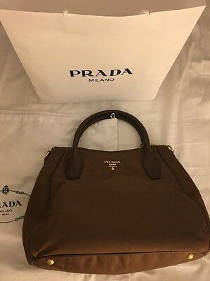 PRADA Tessuto Nylon Tote Shopping Shoulder Bag Corinto BR4992 NWT
