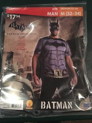 Batman Halloween Costume For Men (Halloween Costume Men's Arkham Franchise Batman Medium)
