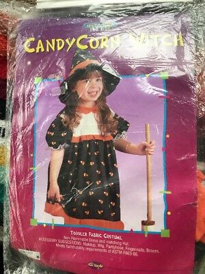 Candy Corn Witch Halloween Costume NIP Sealed Toddler Child Kids Sz 3T-4T](4t Witch Costume)