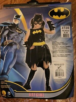 Batgirl Costume Accessories (Rubies Batgirl Costume Dress Black Cape Outfit Accessories Size Medium 8-10)